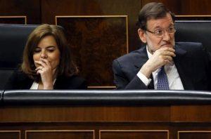 Soraya y Mariano Rajoy