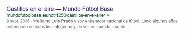 Artículo de Luis Prado en su web sin su consentimiento