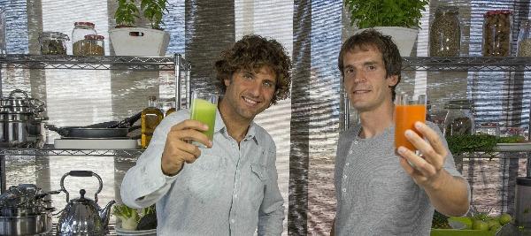 Edgar Barrionuevo junto a David Moreno fundadores de Pure Corpore